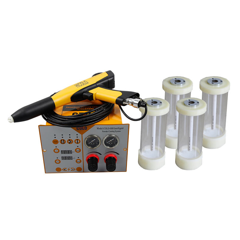 Fast Color Change Powder Coating Spray Gun Kit